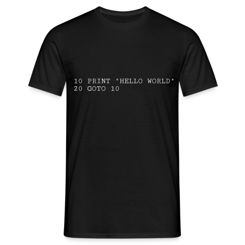HELLO WORLD - Commodore64 BASIC - Herre-T-shirt
