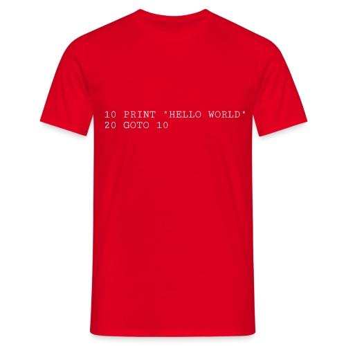 HELLO WORLD - Commodore64 BASIC - Herre-T-shirt