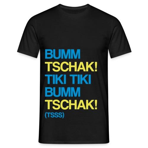 Bumm Tschak Tsss zweifarbig - Männer T-Shirt