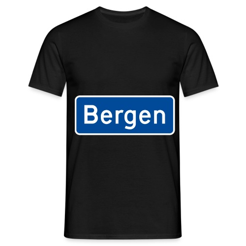 bergen - T-skjorte for menn