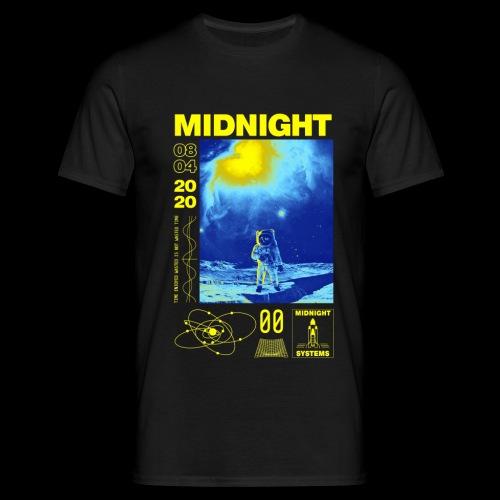 Midnight Astronaut Electric Yellow - Men's T-Shirt
