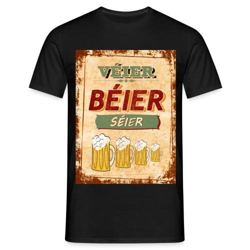 Véier Béier Séier - Männer T-Shirt
