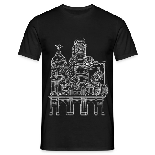 MADRID COLLAGE BLANCO - Camiseta hombre
