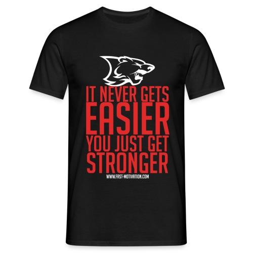 stronger red whitelogo png - T-shirt Homme
