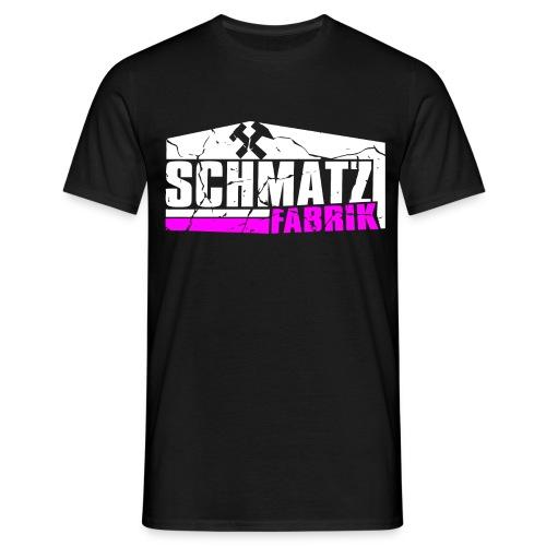 Schmatzfabrik Weiss - Männer T-Shirt