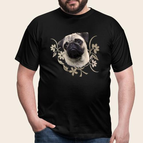 Mops Portrait - Männer T-Shirt