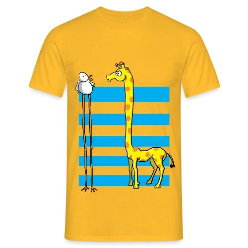 La girafe et l'échassier - T-shirt Homme