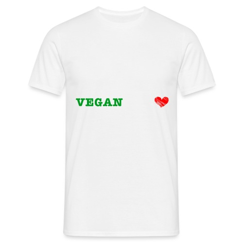 be my VEGANtine - white - Men's T-Shirt