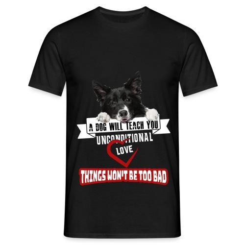 Border Colli Bedingungslose Liebe - Männer T-Shirt