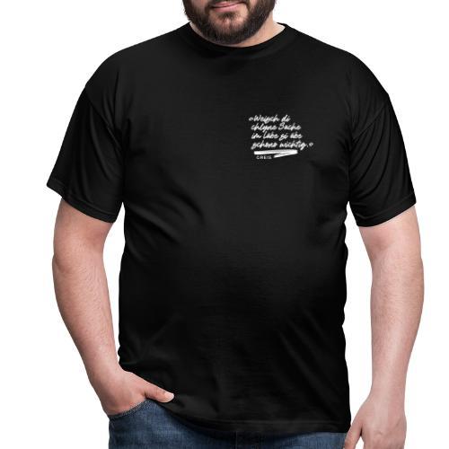GREIS Typo 01 SMALL - Männer T-Shirt
