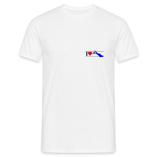love 8x3 120dpi blau - Männer T-Shirt