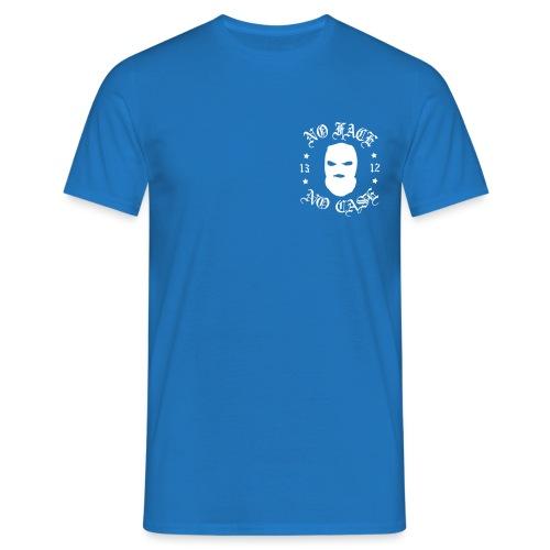 No Face, No Case - Skimask - pieni printti + selkä - Miesten t-paita