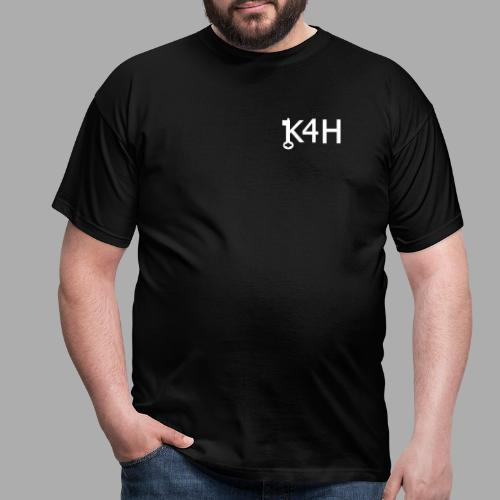 K4HText2White - T-shirt herr