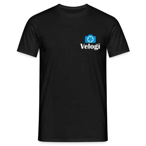 Velogi logo cyan white - Miesten t-paita