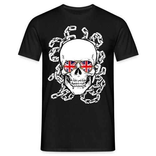 skull union jack sg chains s21px - Men's T-Shirt