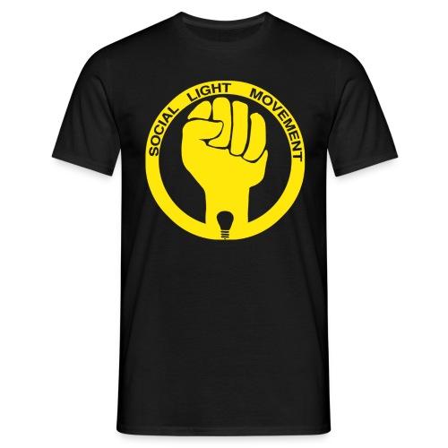 social light movement yellow hand - Men's T-Shirt