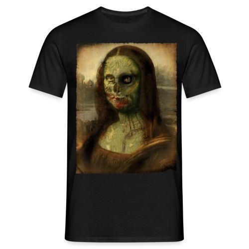 mona lisa zombie - Camiseta hombre