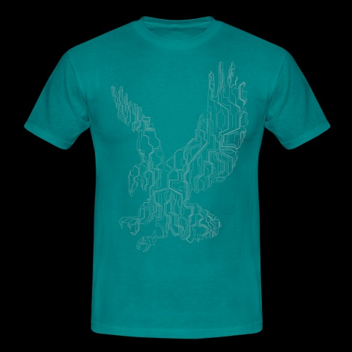 Circuit eagle White - Herre-T-shirt