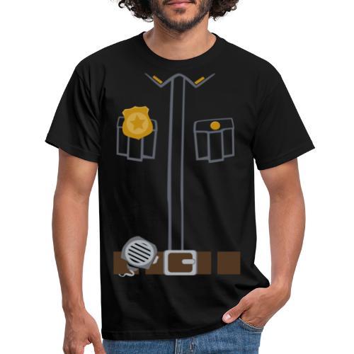 Police Costume Black - Men's T-Shirt