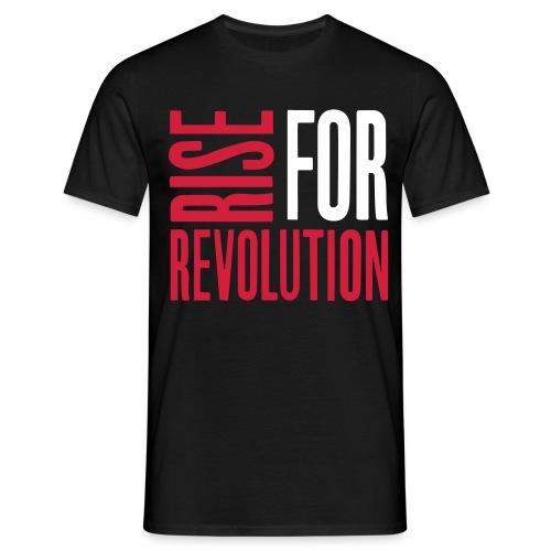 rise for rev logo - Men's T-Shirt