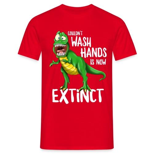 Wash Your Hands Tyrannosaurus Flu Cold Virus - Maglietta da uomo