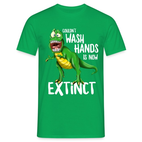 Wash Your Hands Tyrannosaurus Flu Cold Virus - Maglietta da uomo