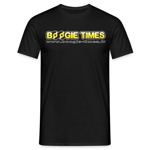 BOOGIE TIMES CLASSIC ts black - Men's T-Shirt
