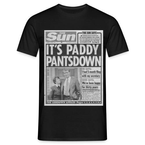 It s Paddy Pantsdown FP BW - Men's T-Shirt