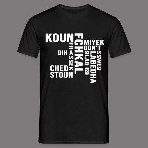 KOUN FCHKAL Blanc - T-shirt Homme