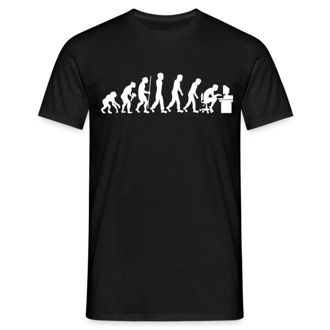 évolution de l/'homme Pour Ordinateur Gamer Geek Drôle T-Shirt hommes coton ample