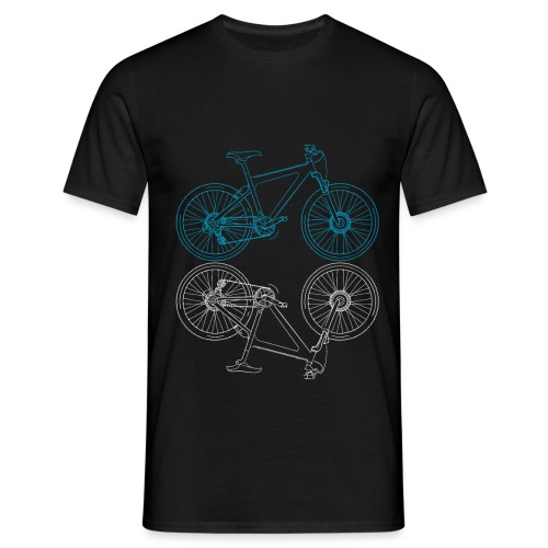 Mountainbike Fahrrad Radsport Skizze - Männer T-Shirt