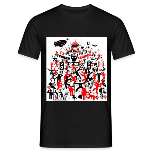 Techno Party Save the Rave - Männer T-Shirt