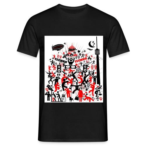 Techno Party Stuttgart - Männer T-Shirt