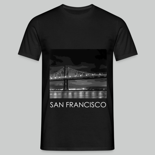SF - B&W Bridge w/Text - Men's T-Shirt