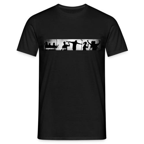 Assisten-logo-1F-neg - T-skjorte for menn