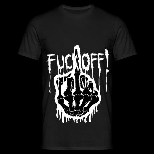 Fuck Off Weißer Rand png - Männer T-Shirt