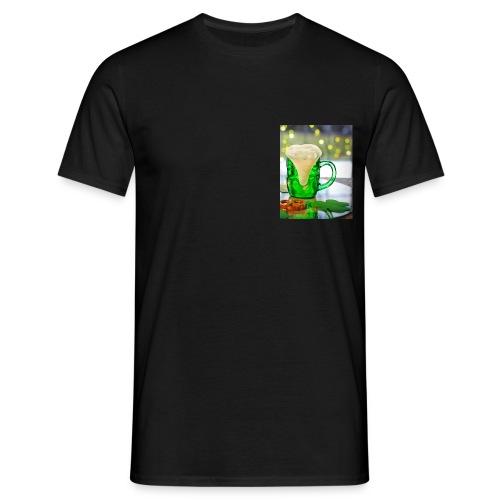 st patricks day green pint crop - Men's T-Shirt