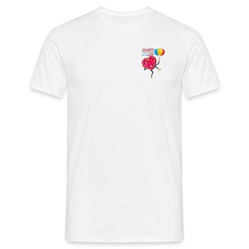 Herz blinzelnd - Männer T-Shirt