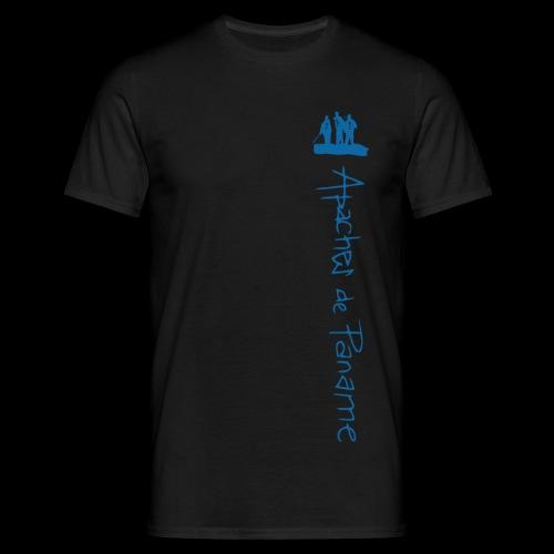 logo apaches vertical Bleu - T-shirt Homme