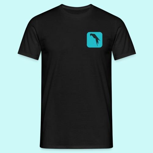 Parrot Security Logo cyano - Men's T-Shirt