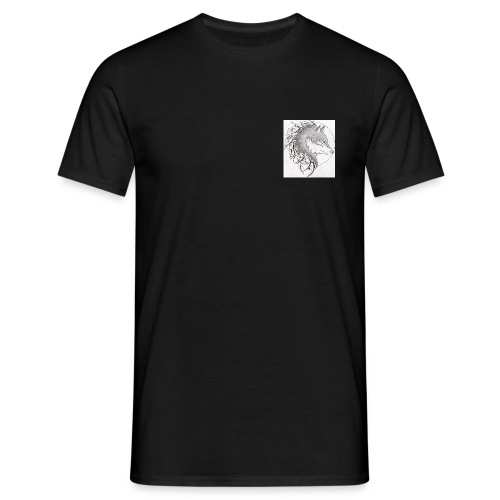 wolf_i_a_moon_tribal_tatt - Männer T-Shirt