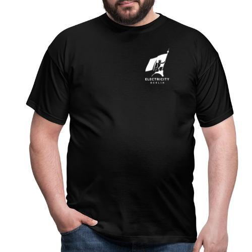 Electricity Logo Weiß - Männer T-Shirt