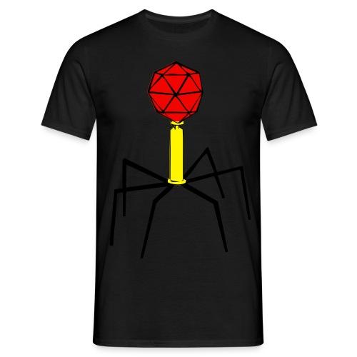 Bakteriophage für Flock- und Flexdruck! - Männer T-Shirt