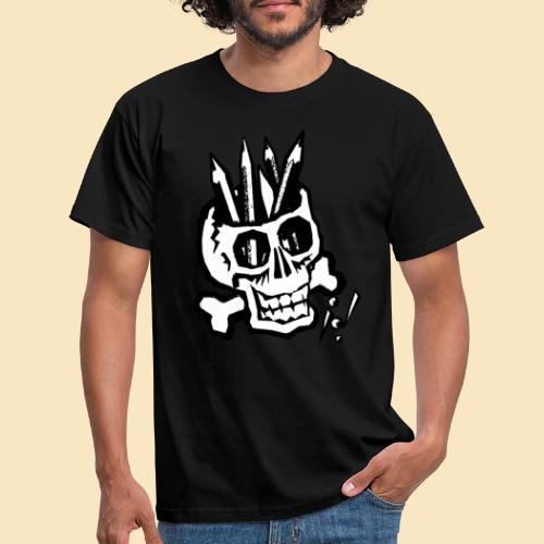 Pencilskull white - Männer T-Shirt
