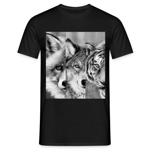 fox-wolf-tiger - Männer T-Shirt