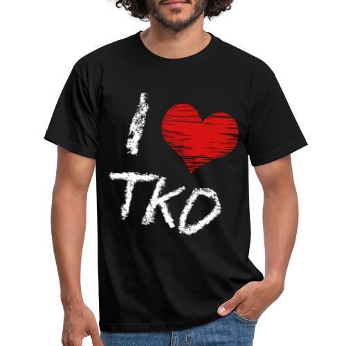 I love tkd letras blancas - Camiseta hombre