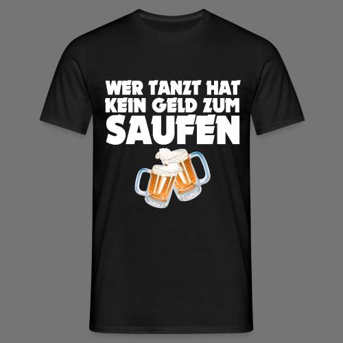 SAUFEN WEISS - Männer T-Shirt