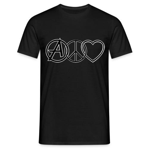 ANARCHY PEACE & LOVE - Men's T-Shirt