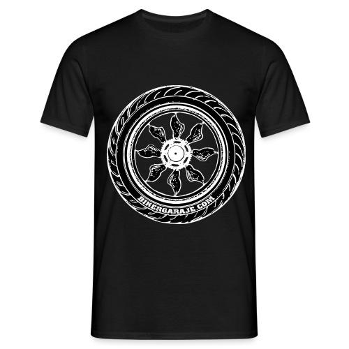 Rueda BikerGaraje.Com - Camiseta hombre