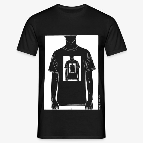 Recursion inverted | Geek | Art | Loop | - Men's T-Shirt